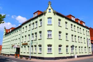 Das Gebäude in dem sich das Aparthotel befindet