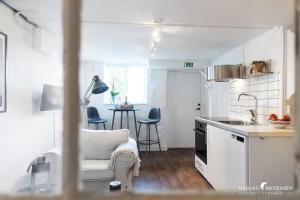 Ett kök eller pentry på Havsbadsvägen Stella Star