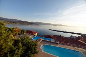 A view of the pool at Molyvos Manor or nearby