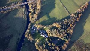 A bird's-eye view of Machermore Castle West Lodge