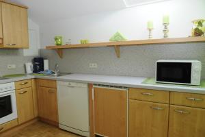 מטבח או מטבחון ב-Haus Sonnenschein Mariapfarr