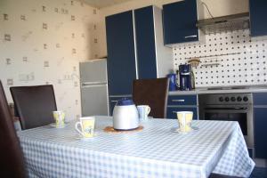 Küche/Küchenzeile in der Unterkunft Ferienwohnung Moselhöhe