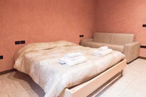Letto o letti in una camera di Casa Bella Riva Reno