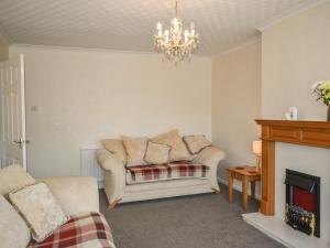 A seating area at Rossall Beach Cottage, Fleetwood