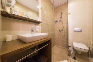 Ванная комната в Hotel Mons