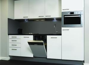 A kitchen or kitchenette at Adina Apartment Hotel Hamburg Michel