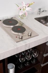 Virtuvė arba virtuvėlė apgyvendinimo įstaigoje Rosedal Suite