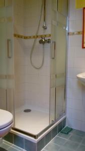 A bathroom at Ubytovanie Gerlachov