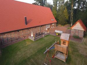 Blick auf Ferienhof Bünne aus der Vogelperspektive