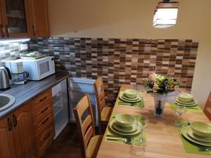 Kuchyň nebo kuchyňský kout v ubytování Apartments U Macháčků