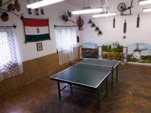 Ping-pong facilities at Kamilla Vendégház or nearby