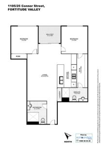 The floor plan of Keeping Cool on Connor - Executive 2BR Fortitude Valley apartment with pool and views