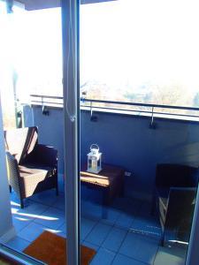 Balkón alebo terasa v ubytovaní Cracovia Panorama East Apartment Vermelo