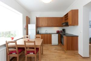 Een keuken of kitchenette bij A Part of Reykjavík Apartments - Framnesvegur