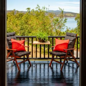 A balcony or terrace at Beaupre Cottage