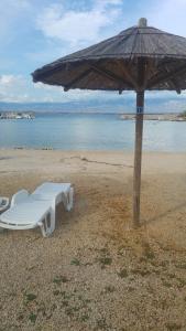 En strand i nærheden af lejligheden