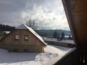Chalupa Pecivál Lipno v zimě
