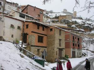 La Casa Gran during the winter