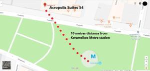 Blick auf Acropolis Suites 54 Purple aus der Vogelperspektive