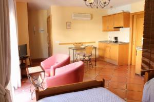 Una cocina o zona de cocina en Apartamentos Flores