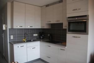 Een keuken of kitchenette bij Residentie Koksijde promenade