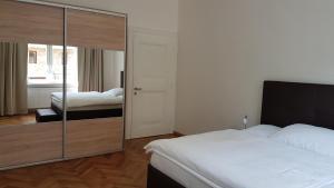 Postel nebo postele na pokoji v ubytování Villa Wingolf