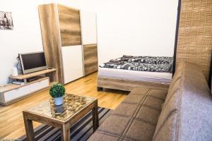 Ein Bett oder Betten in einem Zimmer der Unterkunft Gorgeous Flat only 15 min to center