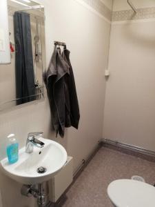 A bathroom at Arctic Circle 16