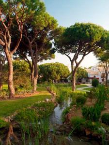 A garden outside Aldeia das Acoteias Villa Sleeps 8 Air Con
