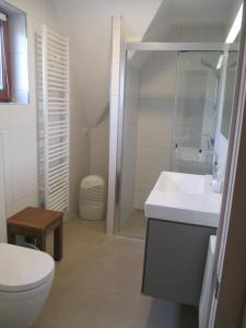 A bathroom at Maison Blanche