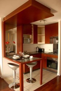 Una cocina o zona de cocina en Santiago Suite Apartment