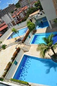 A view of the pool at Flat Rio Quente Serra Park (Propriedade Particular) or nearby
