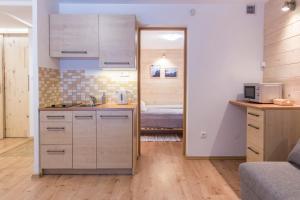 Kuchnia lub aneks kuchenny w obiekcie Apartament Antałówka z ogródkiem