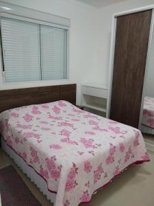 Cama o camas de una habitación en Residencial Santa Maria