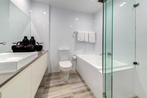 A bathroom at The York by Swiss-Belhotel