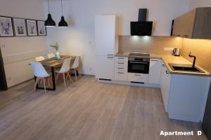 A kitchen or kitchenette at Apartmány BD Boží Dar
