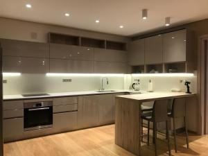 A kitchen or kitchenette at Luxury & Stylish Family Apartment