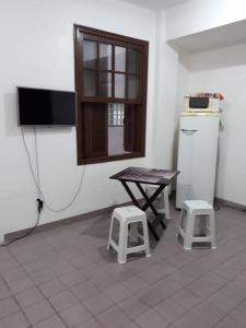 A television and/or entertainment center at Studio Xavier