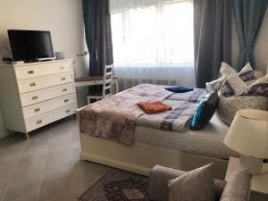 Ein Bett oder Betten in einem Zimmer der Unterkunft Stil und Komfort! Deluxe Apartment!