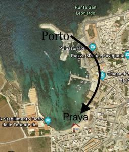Vista aerea di La Praya