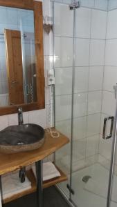 A bathroom at Almhaus Blümel