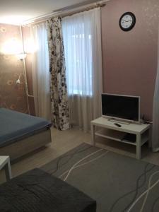 Телевизор и/или развлекательный центр в Apartments on pr. Aleksandra Nevskogo 43