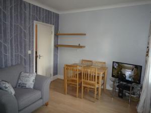 Uma área de estar em St Andrews