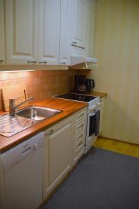 Een keuken of kitchenette bij City Lights Maakuntakatu