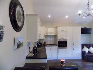 A kitchen or kitchenette at Chapel Meadow Lodge