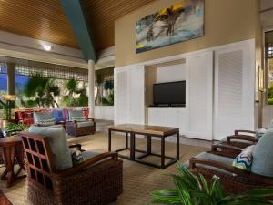 A seating area at Marriott's Imperial Palms Villas