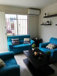 A seating area at Casa Pistache L.A.