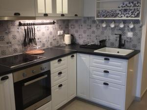 A kitchen or kitchenette at Seaside luxury house on best beach of Chios