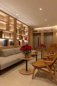 Coin salon dans l'établissement Apart-hotel Serrano Recoletos