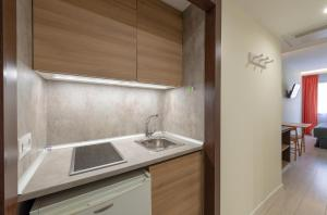 Cuisine ou kitchenette dans l'établissement Apart-hotel Serrano Recoletos
